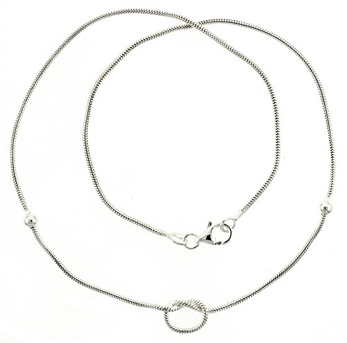 Sterling Silver Necklace / Bracelet with a Knot
